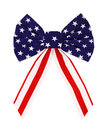 Red White And Blue Bow Royalty Free Stock Image - 19717246