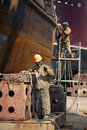 Workers Repaired The Ship Royalty Free Stock Photography - 19728197