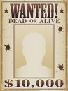 Wanted Dead Or Alive Poster Stock Photo - 19733760