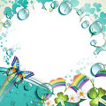 Background With Colored Clover Stock Photography - 19735142