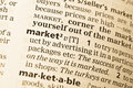 The Word Market In The Old Stock Images - 19736064
