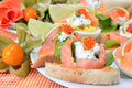 Canapes With Salmon And Caviar Royalty Free Stock Image - 19739666