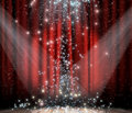 Red Curtain With Star Royalty Free Stock Photo - 19749985