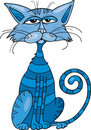 Blue Cat Royalty Free Stock Photo - 19754735