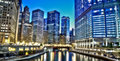 Chicago Financial District Royalty Free Stock Photo - 19764045
