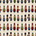 Cartoon Toy Soldier Seamless Pattern Royalty Free Stock Images - 19765829