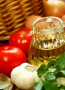 Olive Oil And Vegetables Royalty Free Stock Photos - 19766968