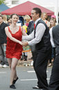 Couple Dancing In Street Royalty Free Stock Photos - 19778248
