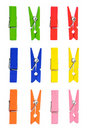 Wooden Clothes Pin Color Stock Images - 19778334