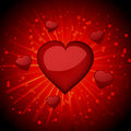 Glossy Red Valentine Hearts Stock Image - 19781611