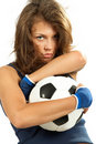 Sexy Girl With Soccer Ball Royalty Free Stock Images - 19793149