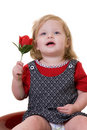 Baby With A Rose Stock Photography - 1983732