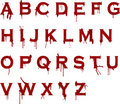 Grunge Blood Alphabet Royalty Free Stock Photos - 1983808