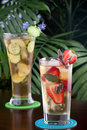 Strawberry Sage And Ginger Cucumber Iced Tea Stock Photography - 19802052