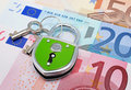 Lock And Euros Stock Photos - 19826423