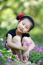 Chinese Lovely Girl Royalty Free Stock Image - 19845836