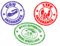 Car, Life And Home Insurance Stamps Stock Photos - 19847383