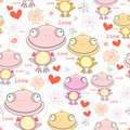 Texture Of The Fun Love Frogs Royalty Free Stock Photo - 19859315