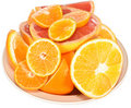 Citrus On A Plate. Royalty Free Stock Photography - 19860767