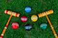 Croquet Balls And Mallets Royalty Free Stock Images - 19861769