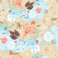 Floral Pattern With Butterflies Royalty Free Stock Images - 19887679