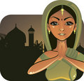 Indian Girl (vector) Royalty Free Stock Image - 19892766