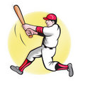 Baseball Player Batting Cartoon Stock Photos - 19895343