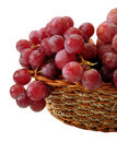 Red Grapes With Drop Of Water On Basket Isolated Stock Images - 1997864