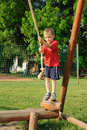 Child On Rope Swing Royalty Free Stock Image - 19919066