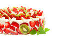 Fruit Cake With Strawberries And Kiwi Fruit Royalty Free Stock Photo - 19925865