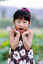 Chinese Lovely Girl Royalty Free Stock Photo - 19928735