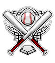 Color Baseball Emblem Royalty Free Stock Images - 19968309