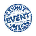 Cannot Miss Event Stamp Royalty Free Stock Photos - 19980548