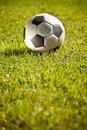 Soccer Ball On Grass Royalty Free Stock Images - 19986819