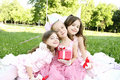 Children S Birthday Party Outdoors Royalty Free Stock Photos - 19991098