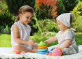 Two Playing Sisters Stock Photos - 19994783