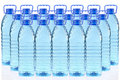 Plastic Bottles Of Mineral Water In A Three Row Royalty Free Stock Photography - 19994887