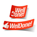 Well Done Label Stock Photo - 20018310