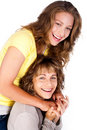 Portrait Of Smiling Matured Mum With Her Daughter Stock Images - 20039314