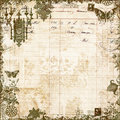 Antique Victorian Floral Scrapbook Background Stock Image - 20047551