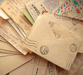 Pile Of Old Letters Royalty Free Stock Photography - 20050217