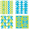 Set Of Abstract Seamless Patterns Royalty Free Stock Images - 20054379