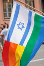 Israel Rainbow Flag Royalty Free Stock Photography - 20063097