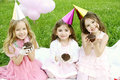Children S Birthday Party Outdoors Stock Images - 20083844