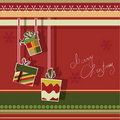Christmas Greeting Card With Gift Boxes Royalty Free Stock Images - 20084199