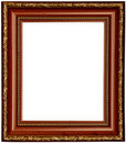 Gold And Wood Frame Royalty Free Stock Photo - 20085235