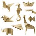 Old-fashioned Origami Set Royalty Free Stock Images - 20110439