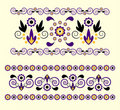 Horizontal Ornament With Flower Royalty Free Stock Photo - 20113295