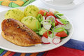 Chicken Breast With Vegetables Royalty Free Stock Photos - 20114098