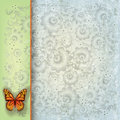 Abstract Illustration With Butterfly And Flowers Stock Image - 20122841